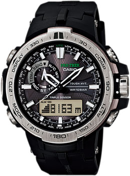 Casio Часы Casio PRW-6000-1E. Коллекция Pro-Trek электронные часы casio sport prw 2500 1e black