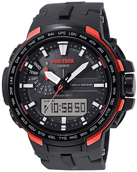 Casio Часы Casio PRW-6100Y-1E. Коллекция Pro-Trek casio watches solar outdoor climbing table prw 6100fc 1p prw 6100y 1a prw 6100y 1b prw 6100yt 1b prw 6100y 1p men s watches