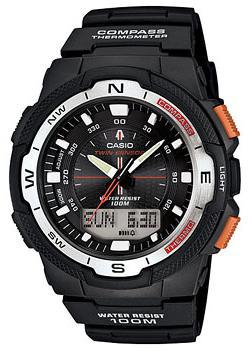 купить Casio Часы Casio SGW-500H-1B. Коллекция Pro-Trek по цене 8190 рублей