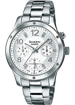 Casio Часы Casio SHE-3807D-7A. Коллекция Sheen casio часы casio she 3049pgl 7a коллекция sheen