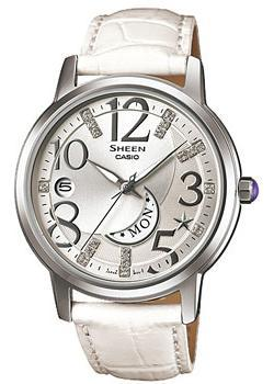 Casio Часы Casio SHE-4028L-7A. Коллекция Sheen casio sheen she 3029pgl 7a