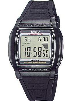 Casio Часы Casio W-201-1A. Коллекция Digital reccagni angelo бра reccagni angelo a 6400 2