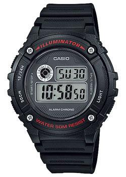 Casio Часы Casio W-216H-1A. Коллекция Digital casio часы casio w 756 1a коллекция digital