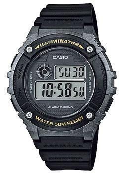Casio Часы Casio W-216H-1B. Коллекция Digital 5mp cmos digital video camcorder w 4x digital zoom hdmi sd 3 5 lcd