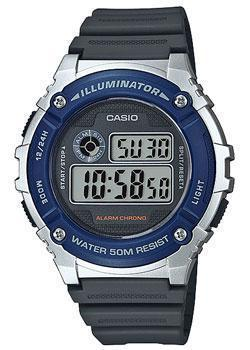 Casio Часы Casio W-216H-2A. Коллекция Digital 5mp cmos digital video camcorder w 4x digital zoom hdmi sd 3 5 lcd