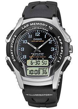 Casio Часы Casio WS-300-1B. Коллекция Ana-Digi casio ws 300 1b