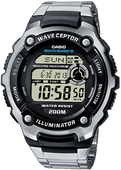 Casio Часы Casio WV-200DE-1A. Коллекция Wave Ceptor casio часы casio wv 58e 1a коллекция wave ceptor