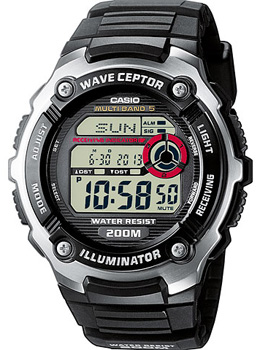 Casio Часы Casio WV-200E-1A. Коллекция Wave Ceptor casio часы casio wv 200e 4a коллекция wave ceptor