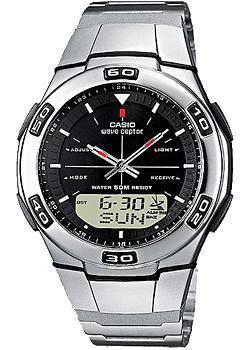 Casio Часы Casio WVA-105HDE-1A. Коллекция Wave Ceptor casio часы casio wva m650d 1a коллекция wave ceptor