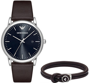 Emporio armani Часы Emporio armani AR80008. Коллекция Dress Watch Gift Set onlyou brand men women dress quartz watch couples calendar table clock real leather fashion casual wristwatches hot sale gift