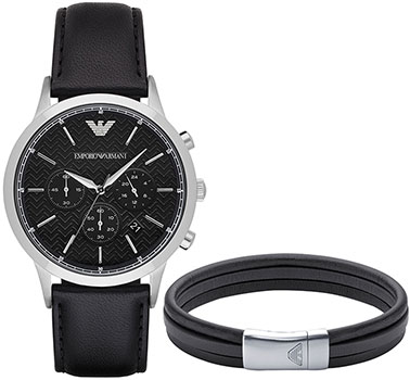 Emporio armani Часы Emporio armani AR8034. Коллекция Dress Watch Gift Set onlyou brand men women dress quartz watch couples calendar table clock real leather fashion casual wristwatches hot sale gift