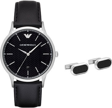 Emporio armani Часы Emporio armani AR8035. Коллекция Dress Watch Gift Set funique retro square scorpion pattern mens watch fashion leather bracelet quartz watch women punk clock dress wrist watch