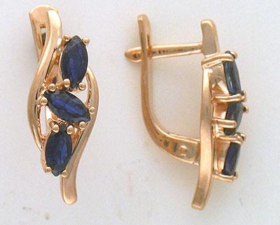Золотые серьги Ювелирное изделие 01C513570