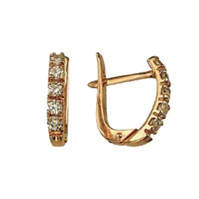 Золотые серьги Ювелирное изделие 01C611117 цена