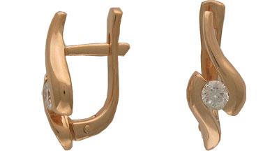 Золотые серьги Ювелирное изделие 01C611438