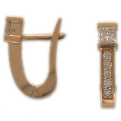 Золотые серьги Ювелирное изделие 01C612461