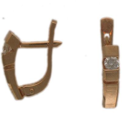 Золотые серьги Ювелирное изделие 01C612474