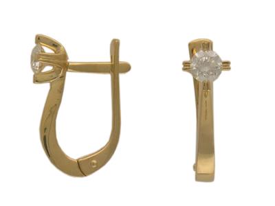 Золотые серьги Ювелирное изделие 01C612816 серьги yaffo tze419