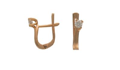 Золотые серьги Ювелирное изделие 01C612976
