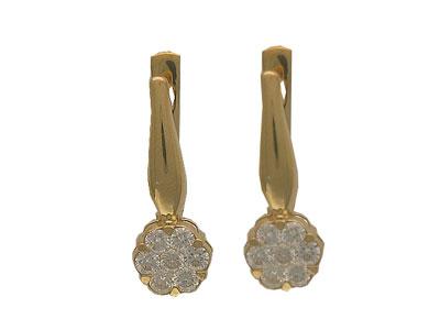 Золотые серьги Ювелирное изделие 01C613066Z