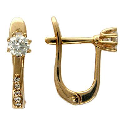 Золотые серьги Ювелирное изделие 01C613337