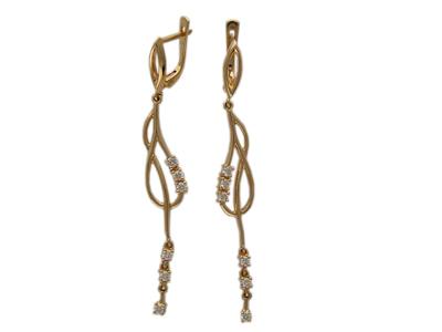 Золотые серьги Ювелирное изделие 01C613597 золотые серьги ювелирное изделие 988