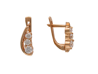 Золотые серьги Ювелирное изделие 01C613663