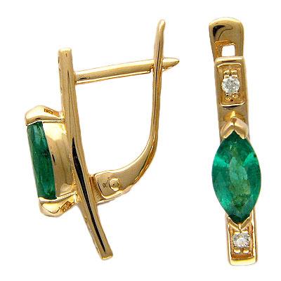 Золотые серьги Ювелирное изделие 01C613828 цены онлайн