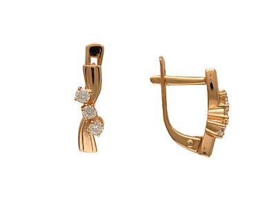 Золотые серьги Ювелирное изделие 01C613856 золотые серьги ювелирное изделие 113713
