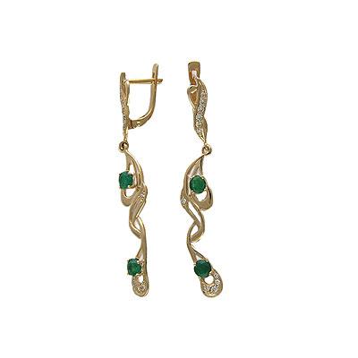 Золотые серьги Ювелирное изделие 01C613892