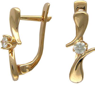 Золотые серьги Ювелирное изделие 01C613989
