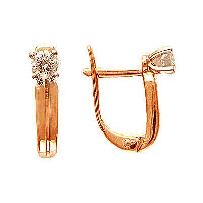Золотые серьги Ювелирное изделие 01C614406 цена