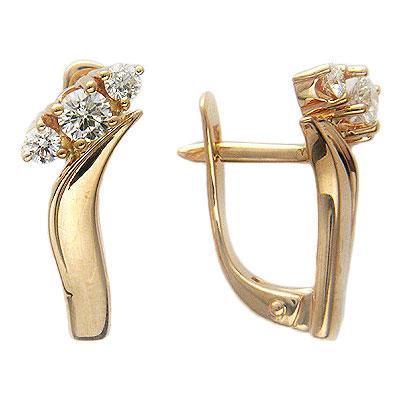 Золотые серьги Ювелирное изделие 01C614411