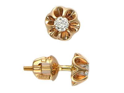 Золотые серьги Ювелирное изделие 01C614990