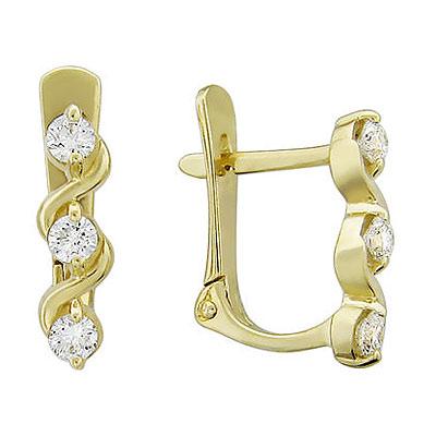 Золотые серьги Ювелирное изделие 01C615820 золотые серьги ювелирное изделие 74878