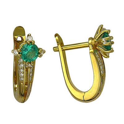 Золотые серьги Ювелирное изделие 01C615931