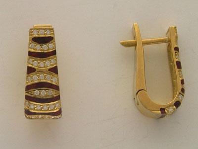Золотые серьги Ювелирное изделие 01C642374U