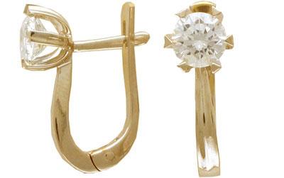 Золотые серьги Ювелирное изделие 01C642792 золотые серьги ювелирное изделие 01c513836