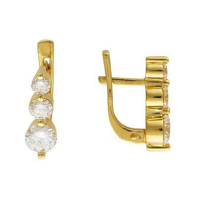 Золотые серьги Ювелирное изделие 01C642933
