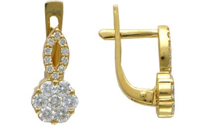 Золотые серьги Ювелирное изделие 01C643200Z золотые серьги ювелирное изделие 01c513250