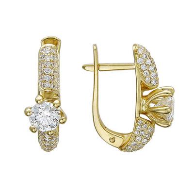 Золотые серьги Ювелирное изделие 01C644146
