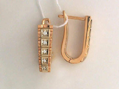 Золотые серьги Ювелирное изделие 01C662041