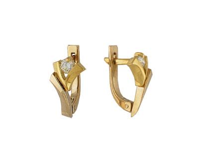 Золотые серьги Ювелирное изделие 01C662760