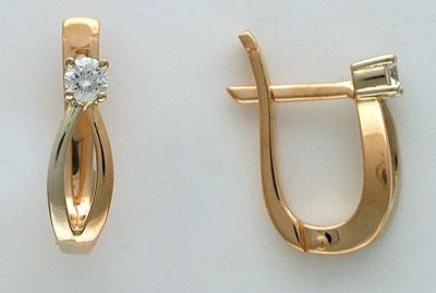 Золотые серьги Ювелирное изделие 01C662975