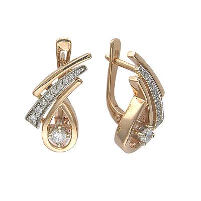 Золотые серьги Ювелирное изделие 01C665051 золотые серьги ювелирное изделие 129244