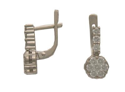 Золотые серьги Ювелирное изделие 01C673018Z