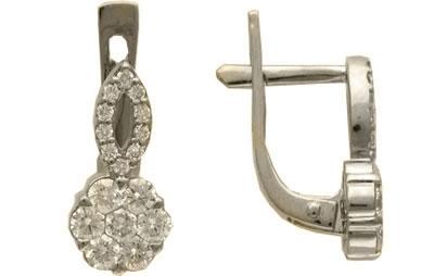 Золотые серьги Ювелирное изделие 01C673200Z
