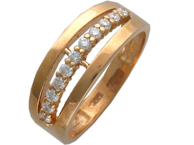 Золотое кольцо Ювелирное изделие 01K612813