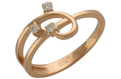 Золотое кольцо Ювелирное изделие 01K612921