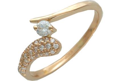 Золотое кольцо Ювелирное изделие 01K613518